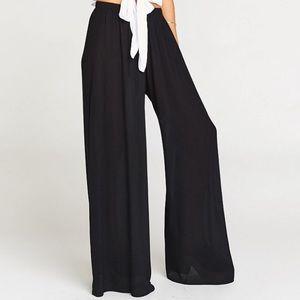 Show Me Your Mumu Black Flowy Elastic Pants
